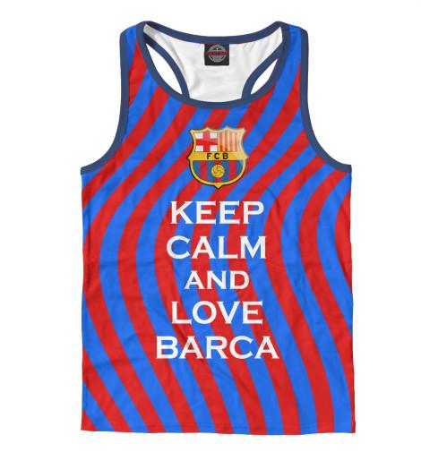 Купить Мужская майка-борцовка Keep Calm and Love Barca BAR-623531-mayb-2