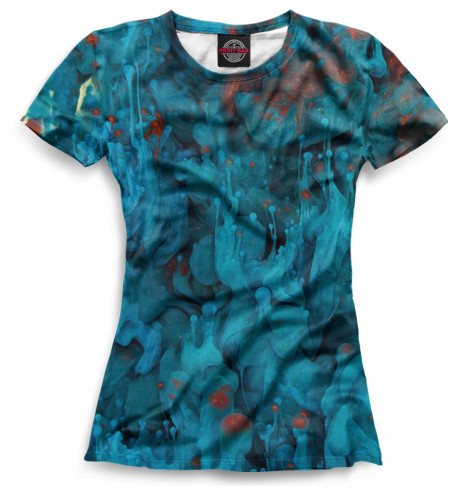 Женская футболка Лава