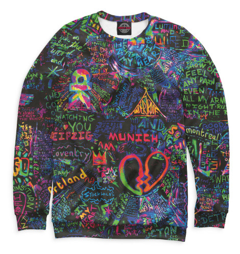 Мужской свитшот Coldplay