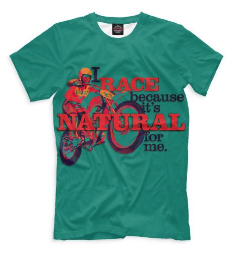 Мужская футболка I Race Because...Все футболки изготавливаются в Москве на нашем производстве и на 100% состоят из высококачественного материала microfibre. Благодаря этому, качество изображения на футболке получается наиболее ярким и насыщенным и выдерживает любое количество стирок.<br><br>Размер INT: 2XS,XS,S,M,L,XL,XXL,XXXL,4XL,5XL,104,110,116,122,128,134,140,146,152,158<br>Цвет: Белый<br>Пол: Мужской<br>Материал: Хлопок
