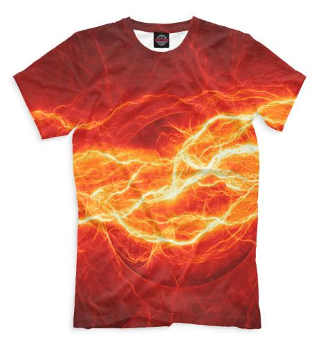 Мужская футболка Молния