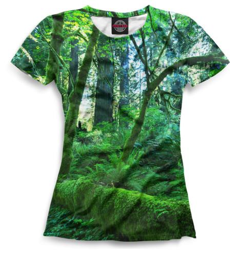 Женская футболка Лес