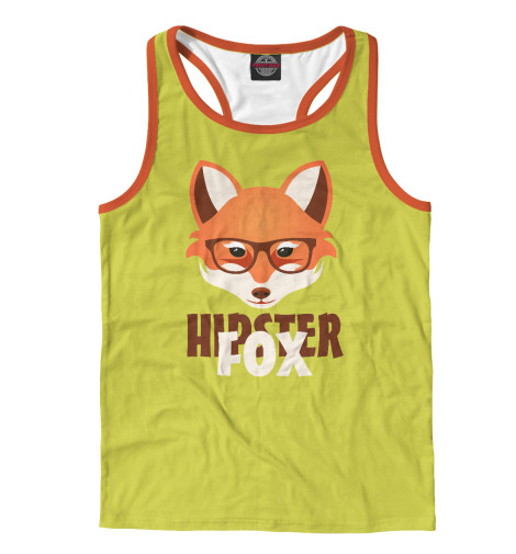 Майка борцовка Print Bar Hipster Fox майка борцовка print bar hipster cat