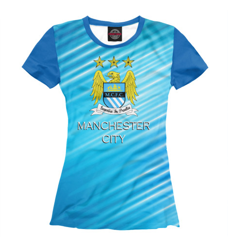 Футболка Print Bar Manchester City толстовка lonsdale lonsdale lo789emarb23