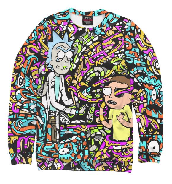 Купить Свитшот для мальчиков Rick and Morty psychedelic RNM-440283-swi-2