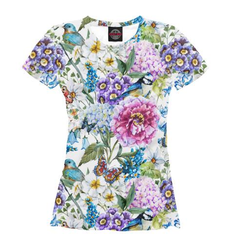 Купить Женская футболка Flower Birds CVE-704470-fut-1