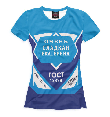 Женская футболка Екатерина