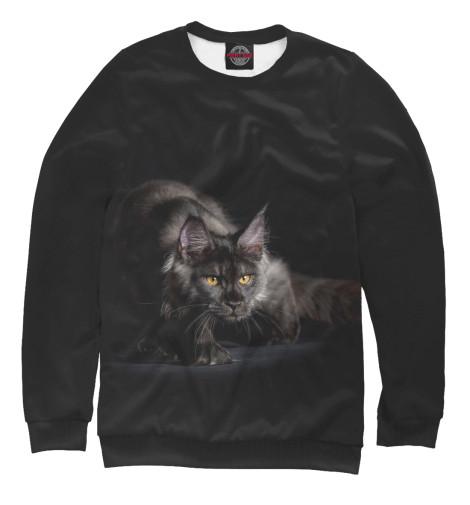 Свитшот Print Bar Черный кот свитшот print bar красавица и чудовище