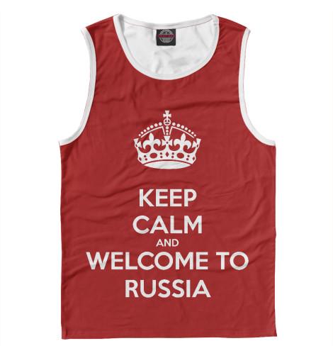 Майка Print Bar Welcome to Russia майка борцовка print bar russia nebula