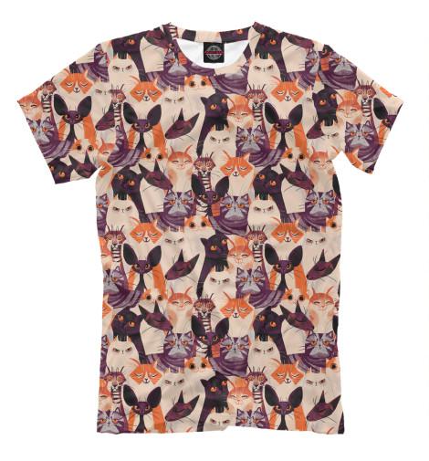 Фото - Мужская футболка Cats от Print Bar белого цвета