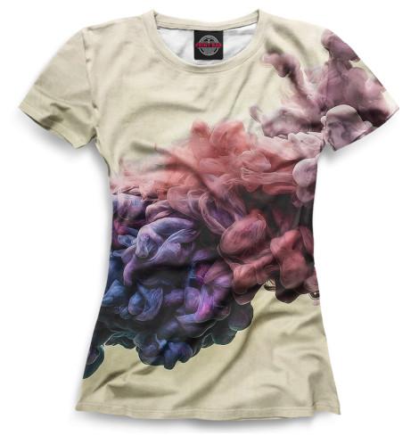 Женская футболка Цветной дым