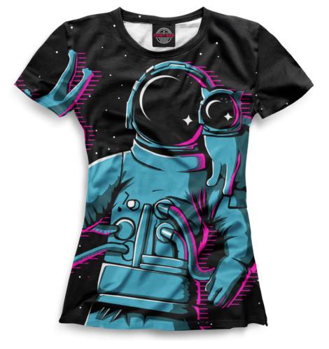 Женская футболка Космонавты