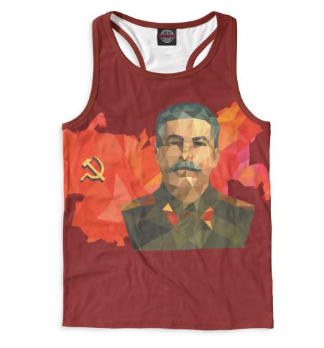 Мужская майка-борцовка Сталин