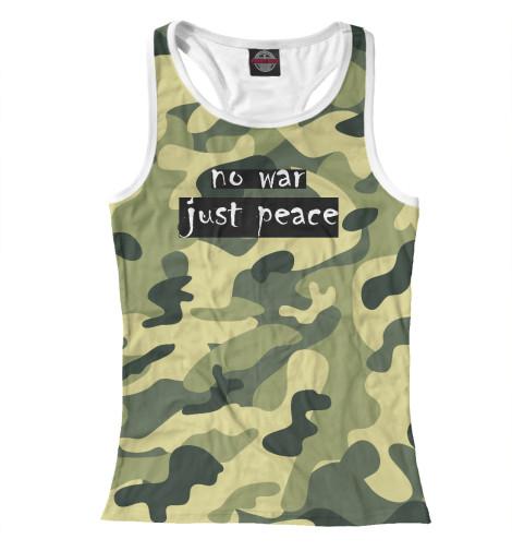 Майка борцовка Print Bar NO WAR. JUST PEACE. свитшот print bar no war just peace