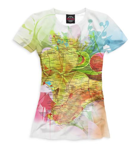 Женская футболка Карта Крыма