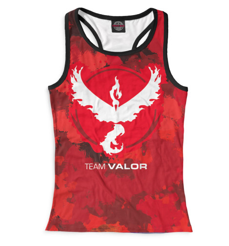Майка борцовка Print Bar Team Valor футболка print bar valor pokemon team