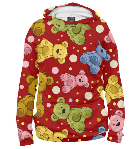 Худи Print Bar Cute teddy bears dress the teddy bears for christmas sticker book
