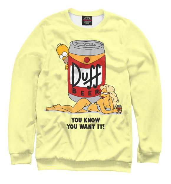 Купить Свитшот для девочек Пиво Duff SIM-847113-swi-1