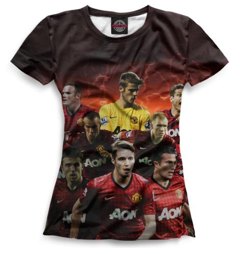 Женская футболка Команда Mанчестер юнайтед