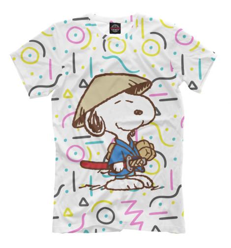Футболка Print Bar Самурай Snoopy футболка print bar волк самурай