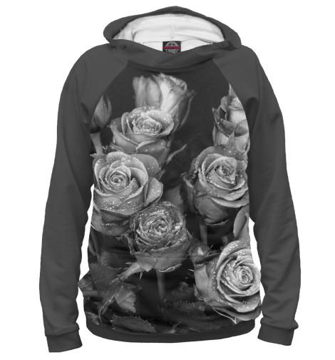 Худи Print Bar Черно-белые розы