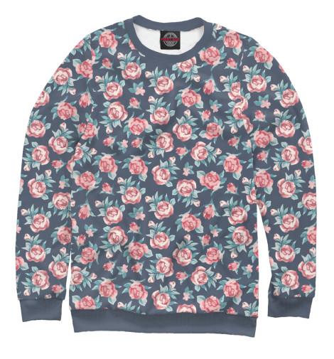 Купить Свитшот для девочек Цветы CVE-905346-swi-1