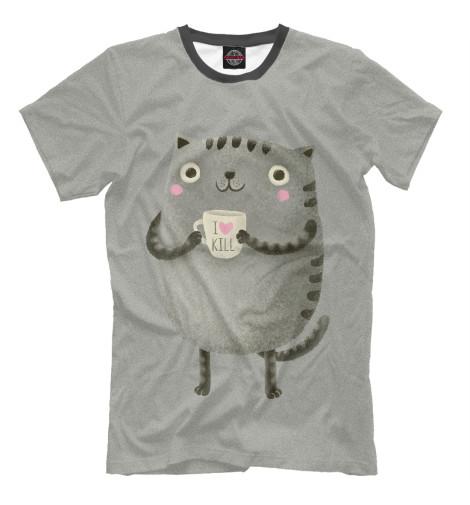 Футболка Print Bar Cat Love Kill