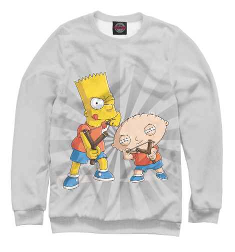 Свитшот Print Bar Stewie and Bart худи print bar bart