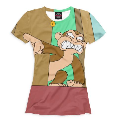 Женская футболка Злая обезьяна