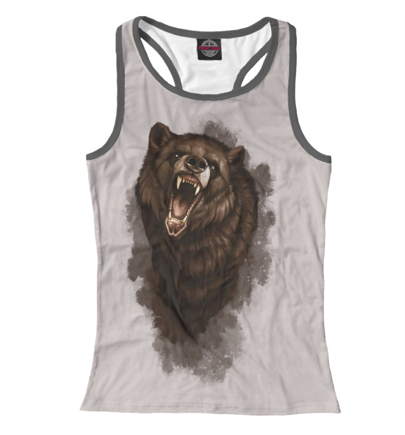 Купить Женская майка-борцовка Бурый медведь MED-521009-mayb-1