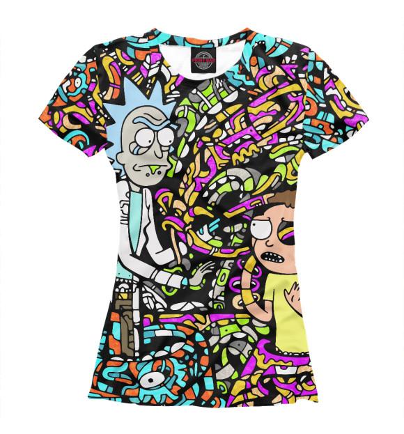 Купить Футболка для девочек Rick and Morty psychedelic RNM-440283-fut-1
