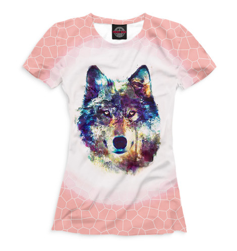 Женская футболка Волки
