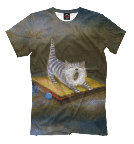все цены на Футболка Print Bar Sleepy Kitten онлайн