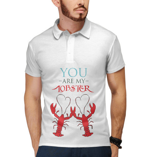 Поло Print Bar You are my lobster футболка print bar you are in my spot