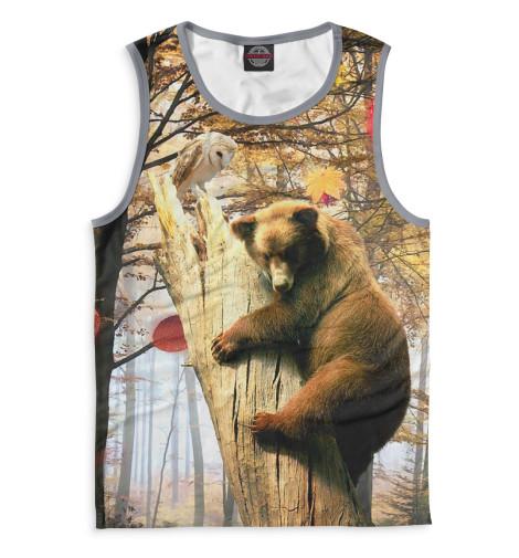 Мужская майка Медведь на дереве