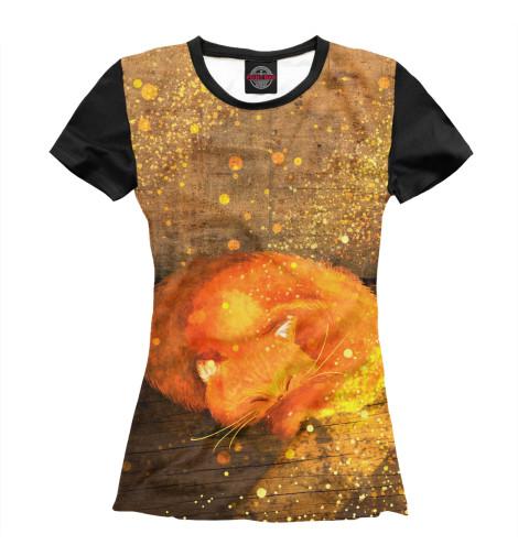 Купить Женская футболка Кот CAT-564021-fut-1