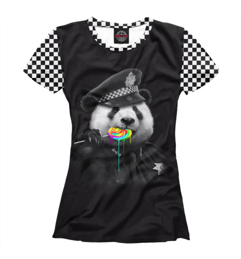 Футболка Print Bar Panda Cop футболка print bar panda color