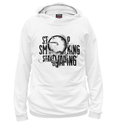 Худи Print Bar Stop Smoking Start Vaping