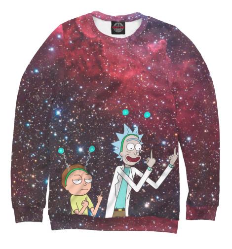 Купить Свитшот для мальчиков Rick and Morty символ мира RNM-889786-swi-2
