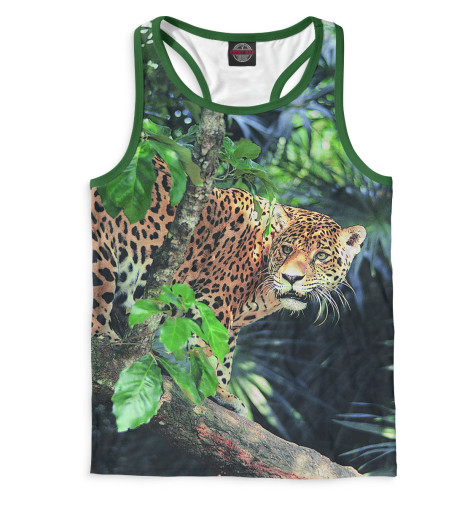 Мужская майка-борцовка Леопард