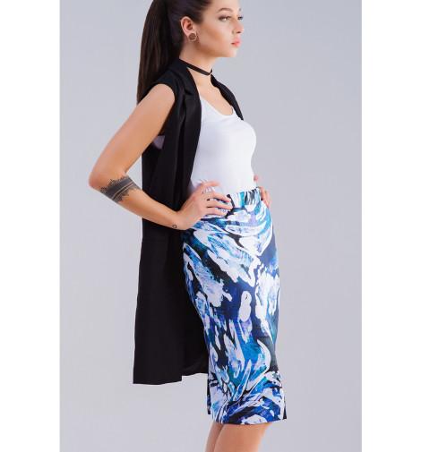 Юбка-карандаш Print Bar Абстракция юбка карандаш укороченная printio синяя абстракция