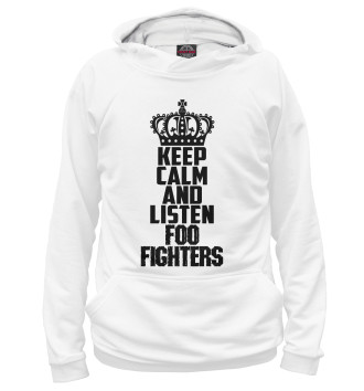 Женское Худи Keep calm and listen Foo Fighters