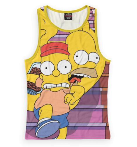 Женская майка-борцовка Барт и Гомер