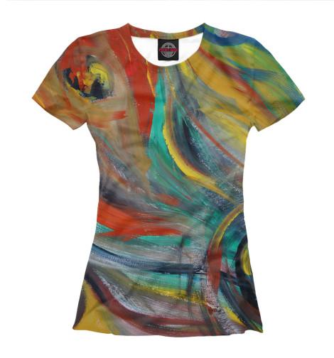 Женская футболка Краски
