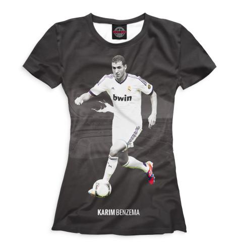 Женская футболка Бензема