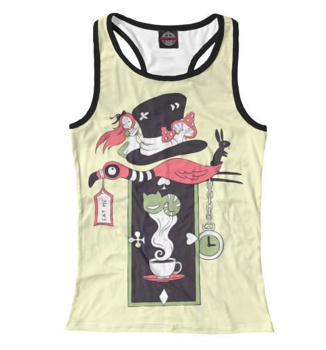 Майка борцовка Print Bar Алиса в стране чудес футболка классическая printio алиса в стране чудес