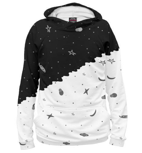 Худи Print Bar Черно-белое небо картленд барбара звездное небо гонконга