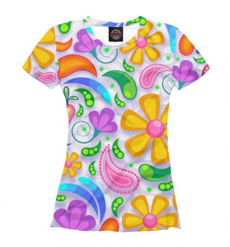 Купить Женская футболка Flower Time CVE-688596-fut-1