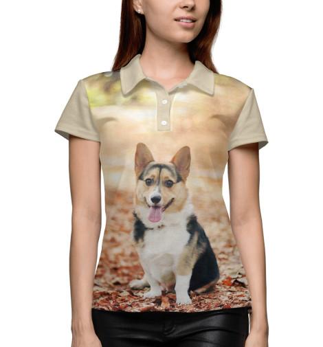 Купить Поло для девочки Корги DOG-593543-pol-1