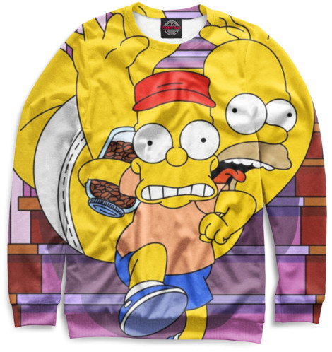 Женский свитшот Барт и Гомер